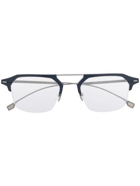 Синие очки для зрения круглые металлические Boss Hugo Boss