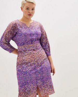 Платье прямое осеннее космея