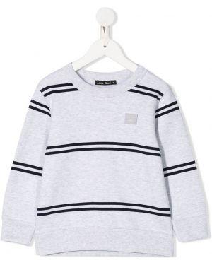 Bluza w paski z długimi rękawami bawełniana Acne Studios Kids