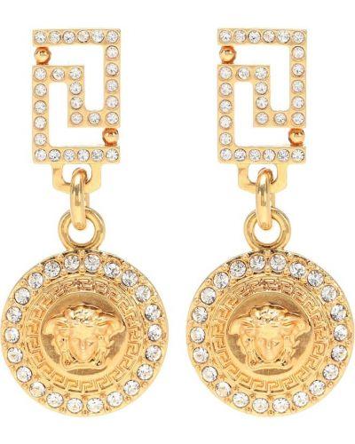 Серьги-гвоздики серьги-кольца золотые Versace