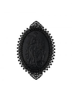 Broszka - czarna Gianfranco Ferré Pre-owned