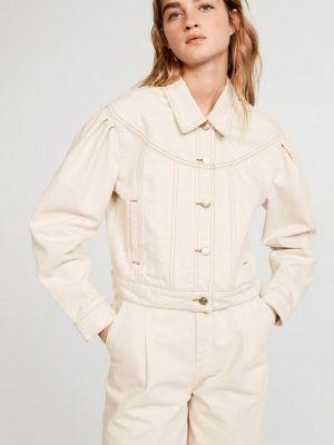 Джинсовая куртка - бежевая Claudie Pierlot