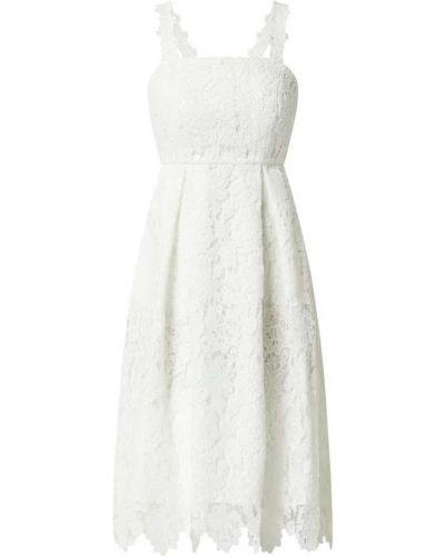 Biała sukienka koktajlowa rozkloszowana koronkowa Jake*s Cocktail