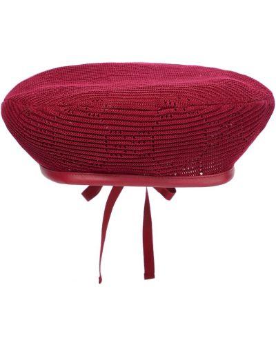 Czarna beret bawełniana Gucci