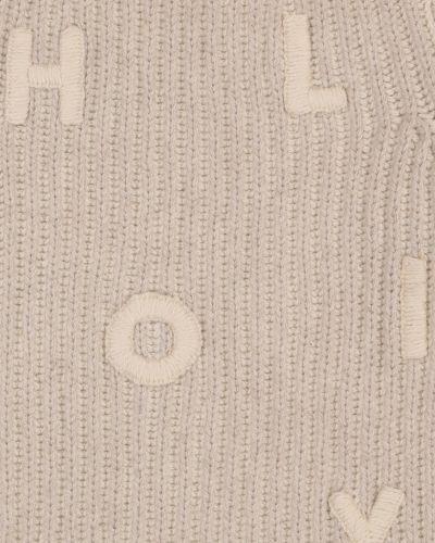 Trykotowy beżowy kaszmir sweter Loro Piana Kids