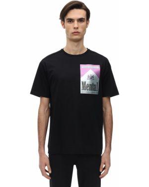 Czarny t-shirt bawełniany z diamentem Limitato