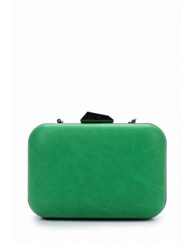 Зеленый кожаный клатч Olga Berg