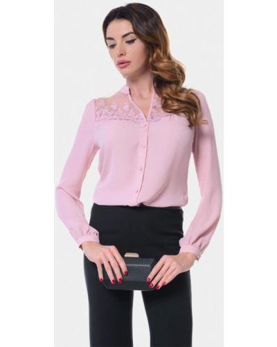 Блузка с длинным рукавом розовая весенний Genevie