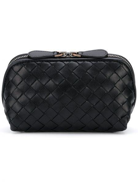 Черная кожаная сумка прямоугольная Bottega Veneta Pre-owned