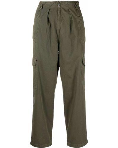 Широкие брюки - зеленые Blugirl