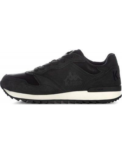 Кроссовки черные на шнуровке Kappa