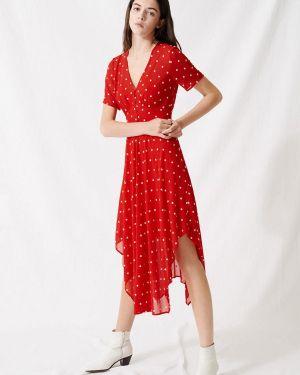 Вечернее платье красный весеннее Maje
