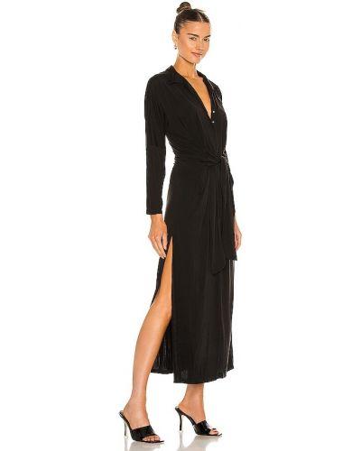 Текстильное облегающее черное платье Yfb Clothing