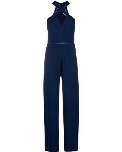 Niebieski kombinezon na paskach z wiskozy Stella Mccartney