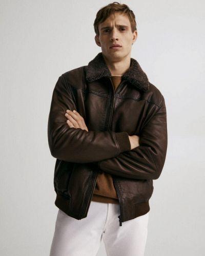 Коричневая зимняя куртка Massimo Dutti