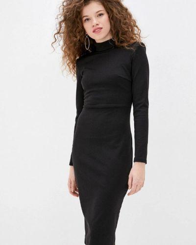 Черное платье-футляр Gepur