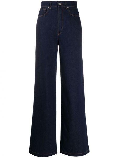 Широкие джинсы на пуговицах с поясом свободного кроя с заплатками Dolce & Gabbana