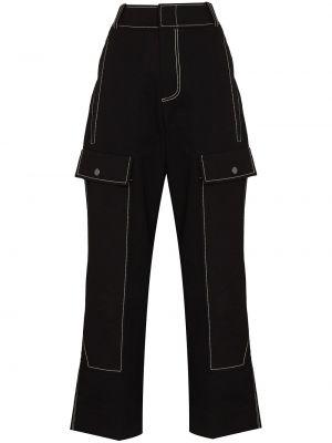 Czarne spodnie bawełniane Rejina Pyo