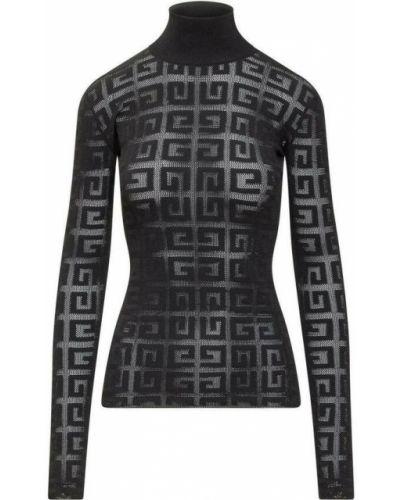 Sweter koronkowy - czarny Givenchy
