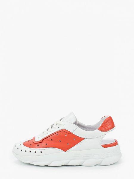 Белые кроссовки из натуральной кожи Nexpero