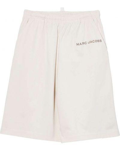 Белые хлопковые шорты с карманами с вышивкой Marc Jacobs