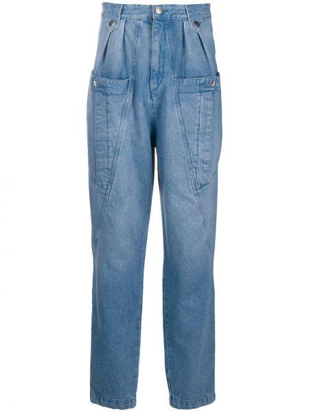 Прямые джинсы с завышенной талией - синие Isabel Marant