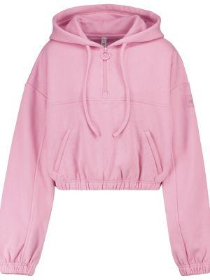 Ciepła różowa bluza bawełniana Alo Yoga