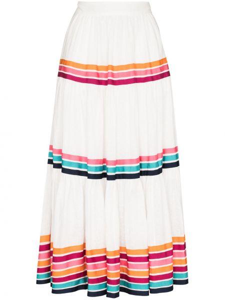 Bawełna biały bawełna spódnica midi z paskami Zimmermann