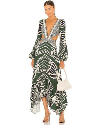 Платье с бахромой - зеленое Patbo