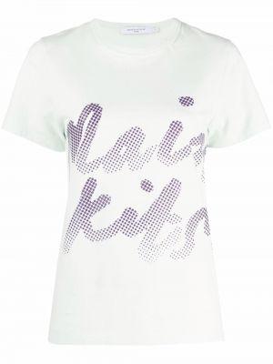 Хлопковая футболка - зеленая Maison Kitsuné