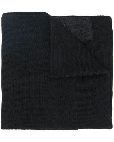 Шерстяной черный вязаный шарф Boss Kids