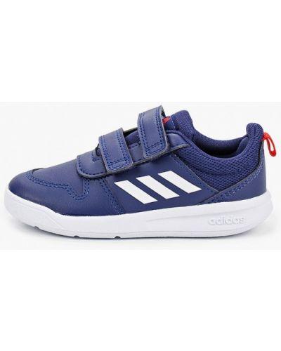 Синие кожаные кроссовки Adidas