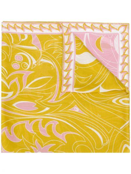 Облегченный розовый шелковый платок Emilio Pucci