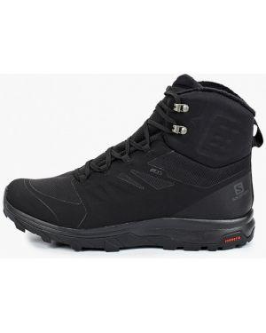 Ботинки трекинговые - черные Salomon