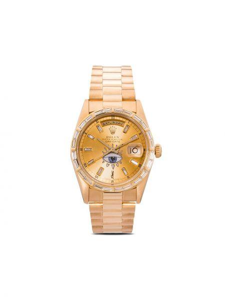 Часы золотые с бриллиантом Jacquie Aiche