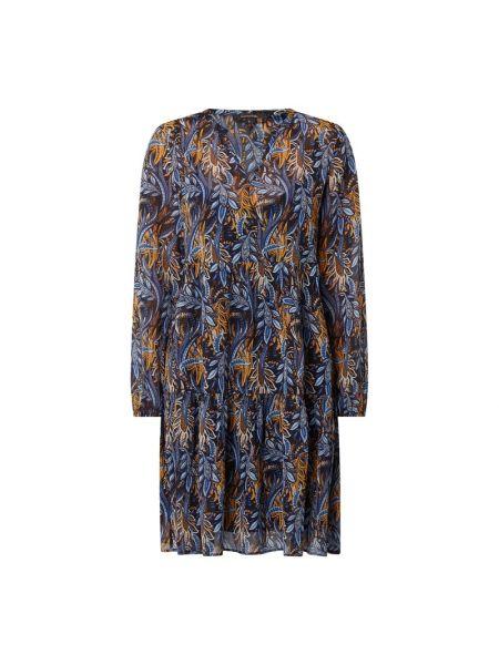 Niebieska sukienka z falbanami Comma