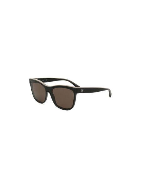 Белые городские муслиновые солнцезащитные очки свободного кроя Chanel