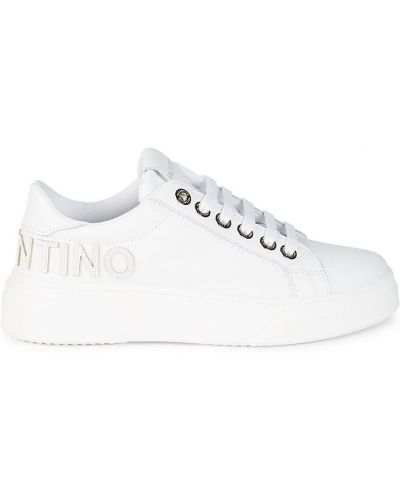 Кожаные кроссовки - белые Valentino By Mario Valentino