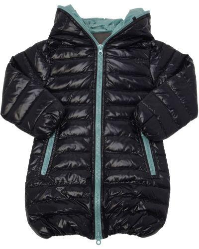 Пуховое пальто с капюшоном с манжетами Duvetica