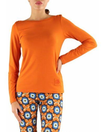 Pomarańczowa t-shirt Maliparmi