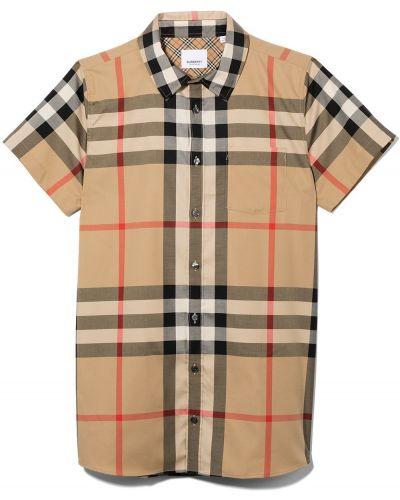 Beżowa koszula bawełniana Burberry Kids