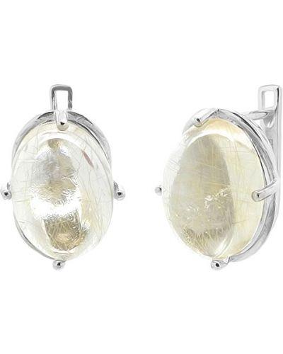 Серебряные серьги с кварцем Evora