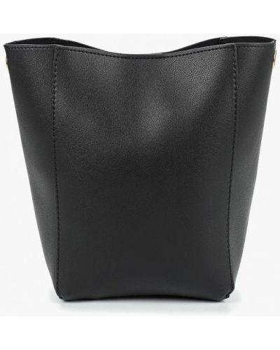 Кожаная сумка через плечо черная Modis