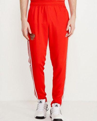 Красные спортивные брюки Adidas