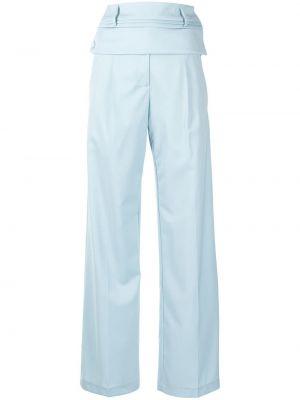 Шерстяные брюки - синие Christopher Esber
