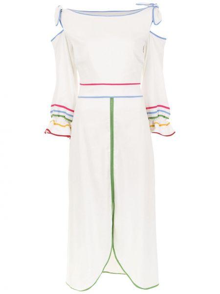 Платье миди с вырезом с разрезом Framed