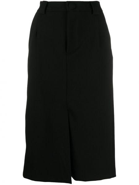 С завышенной талией юбка миди на молнии с разрезом с поясом Remain