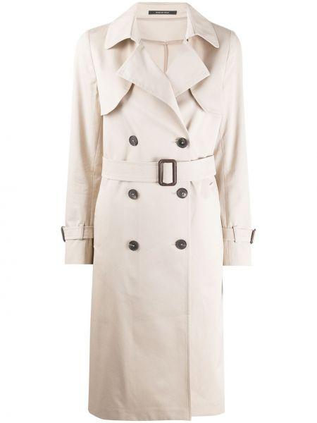 Długi płaszcz podwójnie beżowy Tagliatore