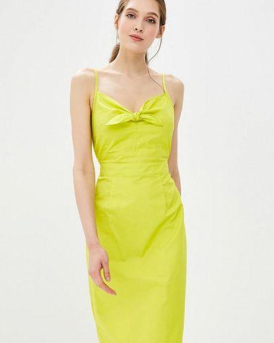 Желтое платье весеннее Modis