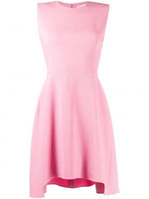 Шелковое асимметричное розовое платье без рукавов Alexander Mcqueen